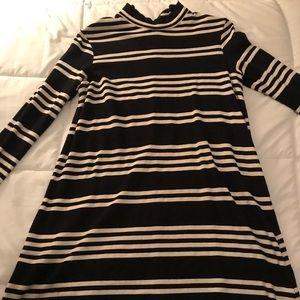 Zara Striped Long Sleeve Dress